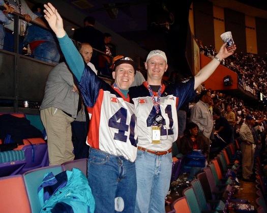 Super Bowl - Colin & Rob at Win
